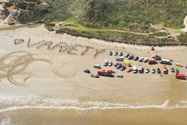 Beach bashing... we welcome all the amazing teams from Variety - the children's charity to our island.